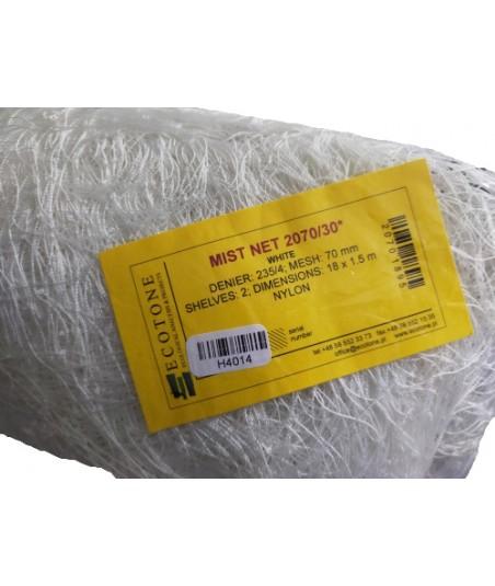 """Ecotone Filet baguage oiseaux BAS """"235/4"""" (maille 70mm) Blanc - 30 mètres (Hauteur : 1,50 m)"""