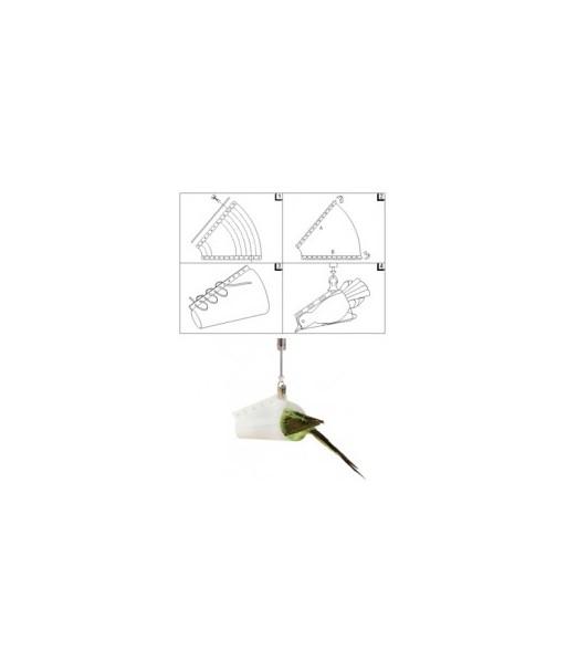 Cône de pesée Pesola - Pour toute balance. Idéal pour le baguage des oiseaux et peser les chauve-souris.