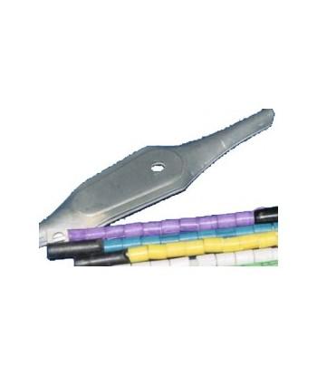 Cuillère accessoires ustensiles pour poser des bagues couleurs sur oiseaux. Marquage pour élevage.