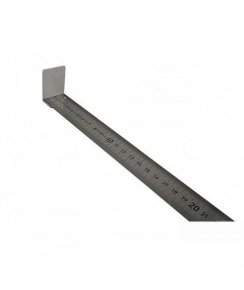 Réglet à butée 100 cm en métal pour mesure ailes des oiseaux lors du baguage.