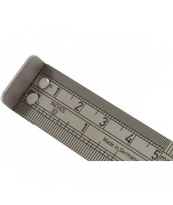 Réglet à butée 15 cm pour mesurer ailes d'oiseaux lors du baguage.