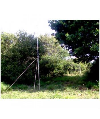 Perche aluminium 2,90 mètres pour tendre des filets de baguage d'oiseaux et de capture de chauve-souris.