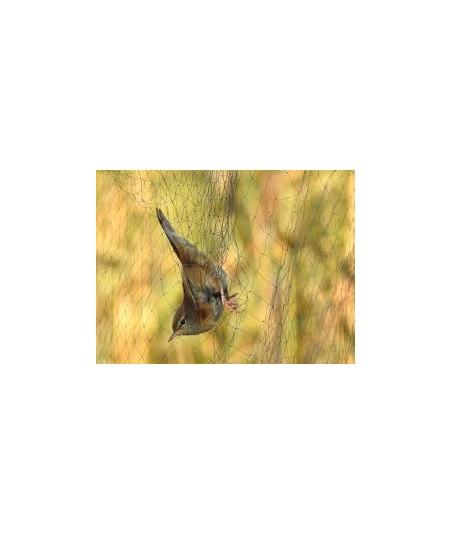 """Bonardi Filet japonais baguage et capture d'oiseaux """"70/2"""" (maille 16mm) Noir - 12 mètres"""