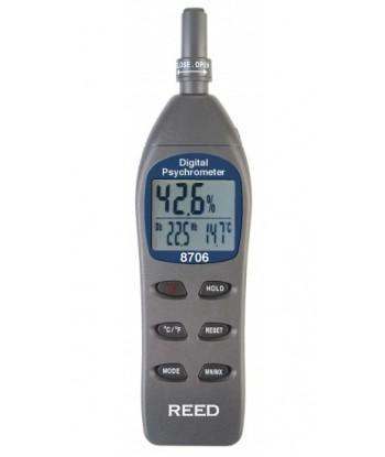 REED 8706 Psychromètre thermo-hygromètre numérique