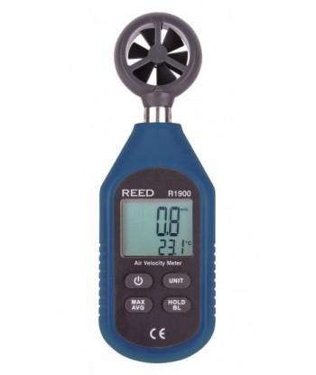 REED R1900 Compteur de vitesse d'air. Anémomètre avec précision scientifique.