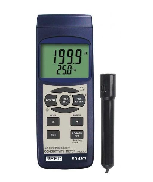 REED SD-4307 Compteur de conductivité/MDT/salinité/enregistreur